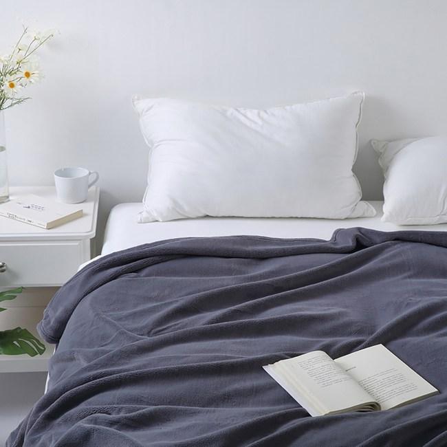 加厚玉兔絨毛毯150cmx200cm-銀灰
