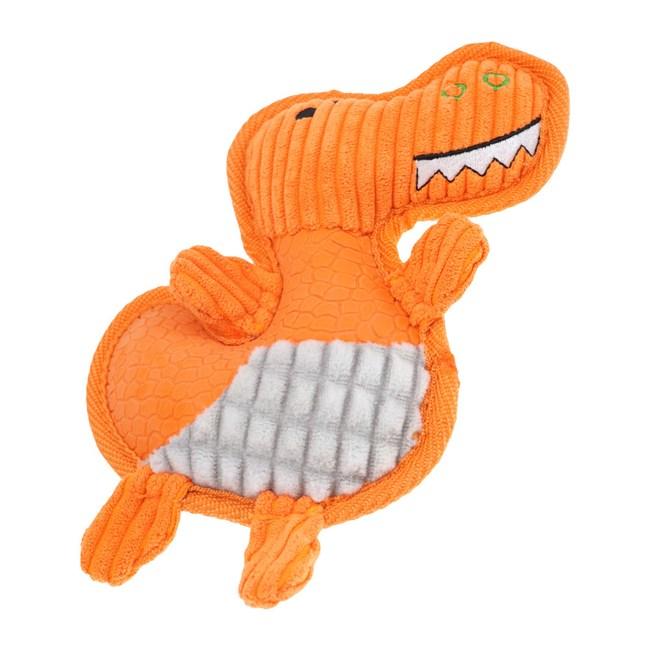 JohoE嚴選 耐咬Q彈憨呆龍壓毛橡膠有聲寵物玩具狗玩具貓玩具