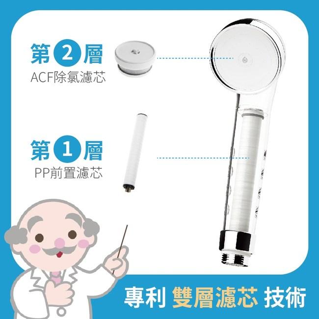 【皮益博士】韓國雙層濾芯蓮蓬頭-基本組(HB-HS1)