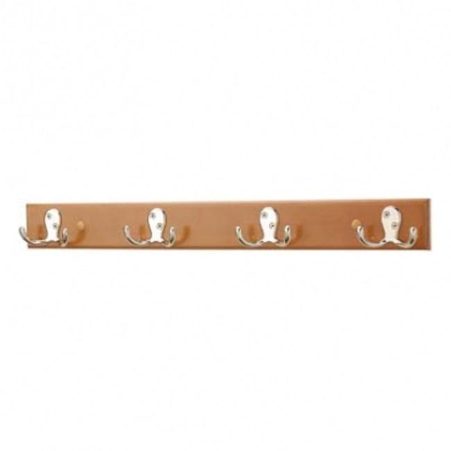 原木金屬牛角鉤-4勾