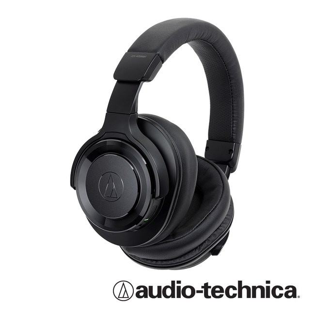 鐵三角ATH-WS990BT 無線降躁耳罩式耳機麥克風組-黑