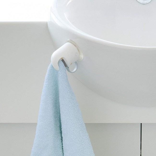 日本LEC彈簧夾扣毛巾掛夾(吸盤吸附)1盒2入裝