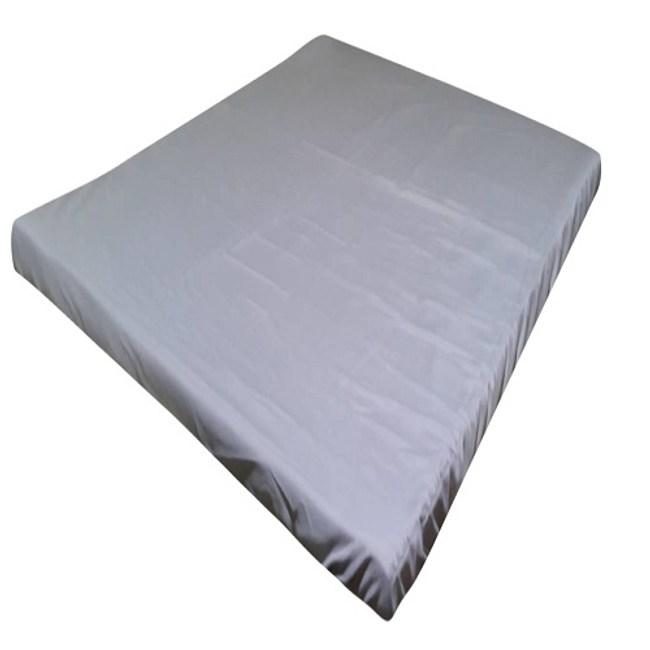 日系素色薄床墊套灰 雙人