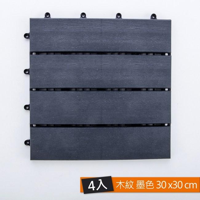 鑲台塑木踏板 木紋 墨色