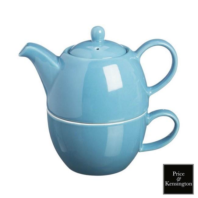 【P&K】手沖咖啡壺馬克杯組(藍色)