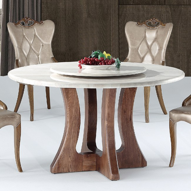 【YFS】蘇菲亞爵士白4.5尺圓桌-130x130x75cm