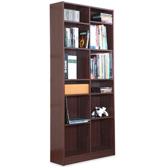 【Hopma】十二格書櫃/收納櫃-胡桃木