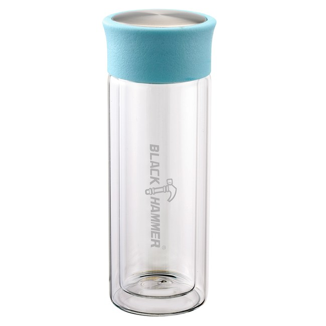 BlackHmmer爵色雙層耐熱玻璃水瓶310ml(附布套)(混款)