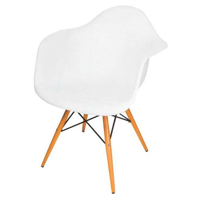 【YFS】列特經典白色扶手椅-61x62x78cm