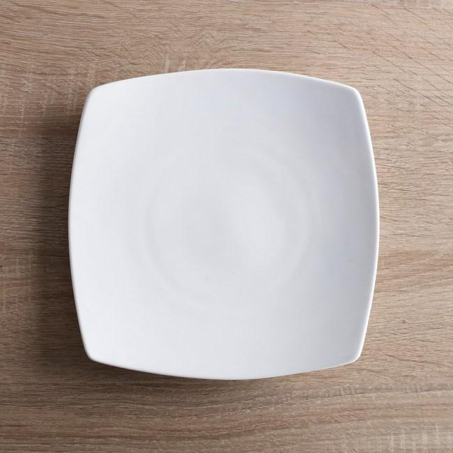HOLA home 緻白骨瓷方盤20.5cm