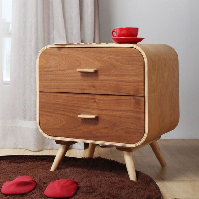 【H&D】NiiRO 尼爾極簡木作收納櫃/床頭櫃
