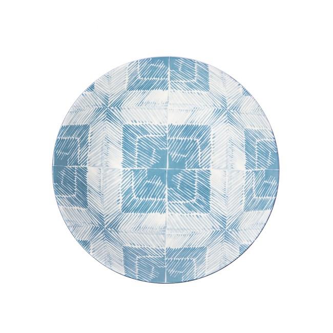 渲染藍韻湯盤21cm 田字格