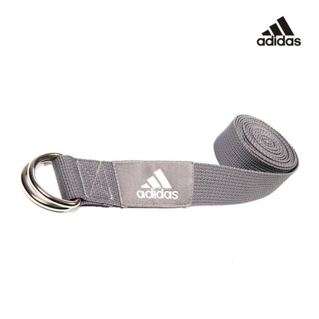 Adidas 編織棉質瑜珈伸展帶(灰)