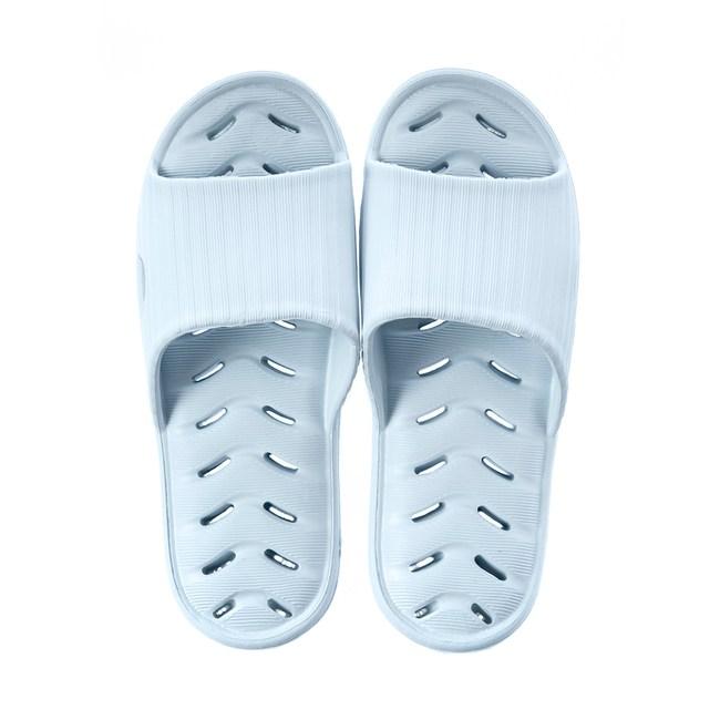 緩壓排水浴室拖鞋94001-淺藍M