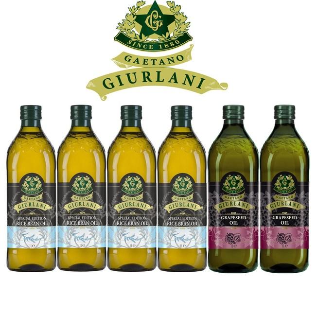【Giurlani】喬凡尼超值玄米油+葡萄籽油禮盒組(1000mlx6