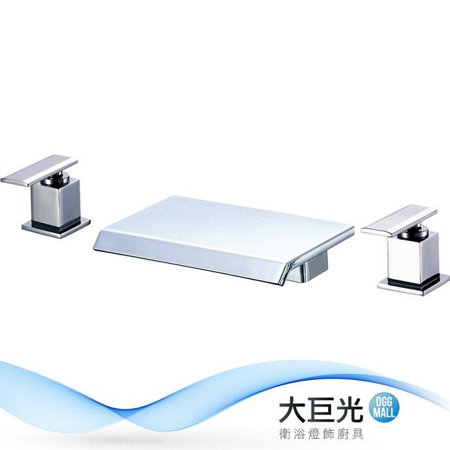 【大巨光】浴用檯面雙槍水龍頭_3件式_不鏽鋼(TAP-112074)