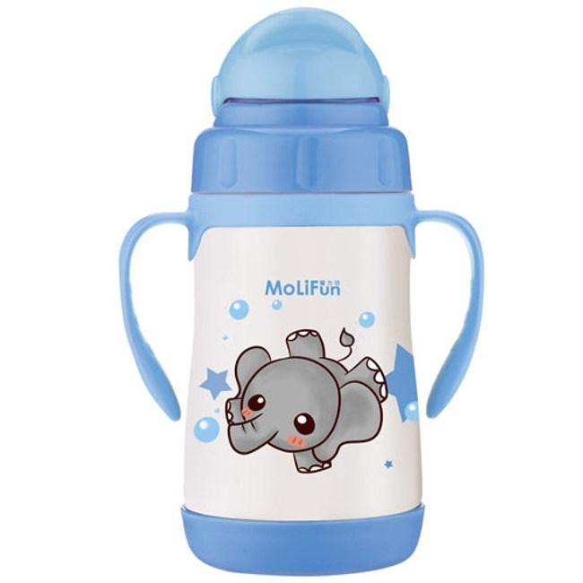 MoliFun魔力坊 不鏽鋼真空兒童吸管杯/學習杯260ml 淘氣象
