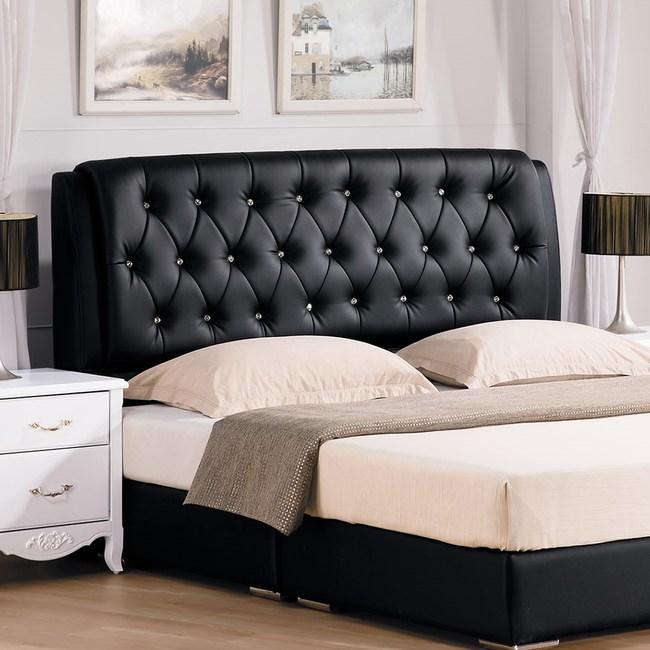 艾莉森黑色6尺床頭片(不含床底)