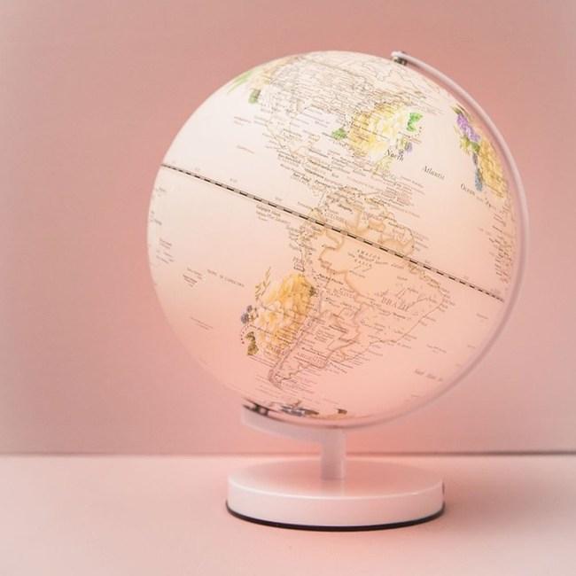 Skyglobe 12吋粉紅繡球花三段觸碰式地球儀(英文版)