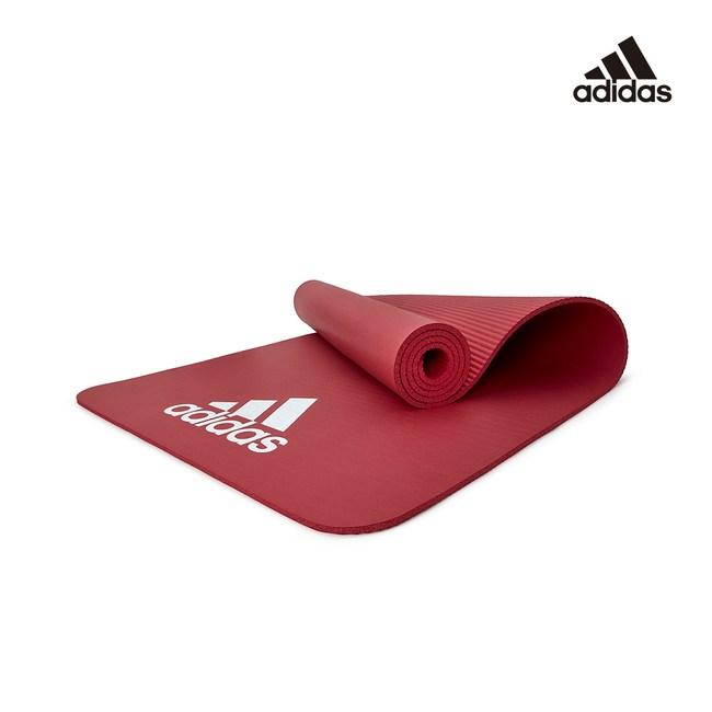 Adidas 輕量防滑彈性運動墊-7mm(酒紅)