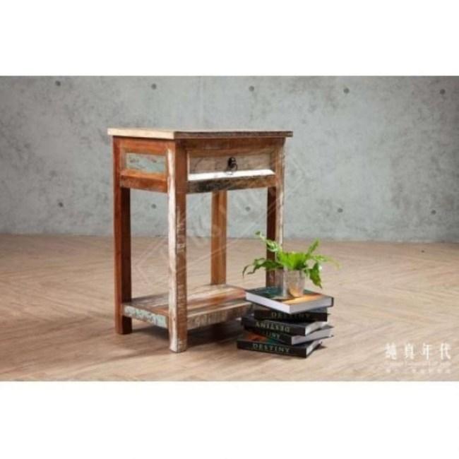 OPUS 仿舊復古 環保木單抽床邊櫃【RW-104】50X33X6650X33X66cm