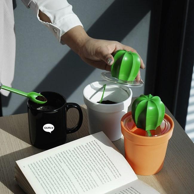QUALY|仙人掌咖啡罐-橘
