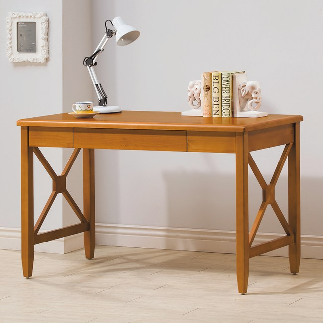 【YFS】丹尼絲全實木4尺書桌-120x60x75cm