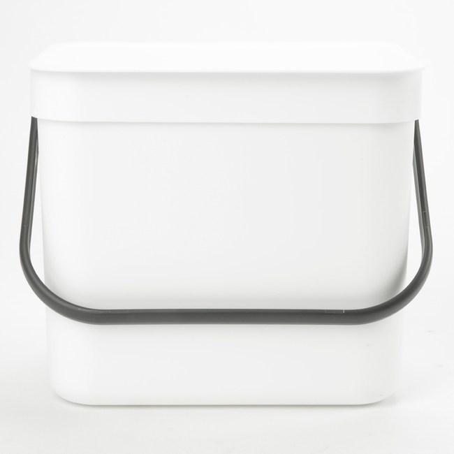 HOLA 沃爾多功能可壁掛垃圾桶 7L 白