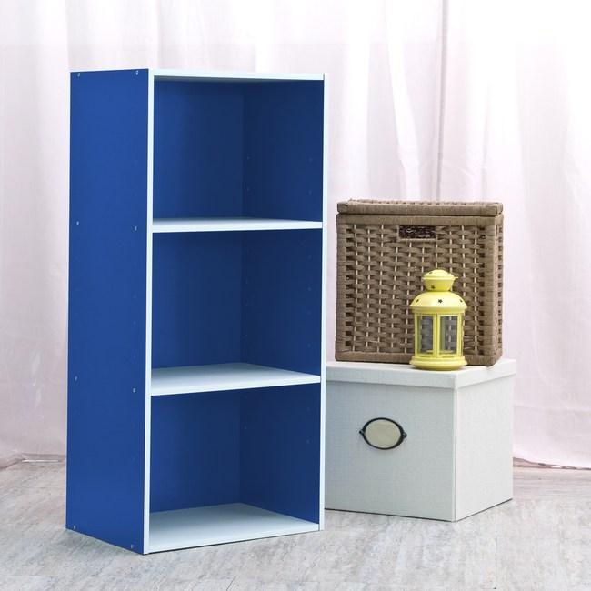 智慧生活三格櫃-藍