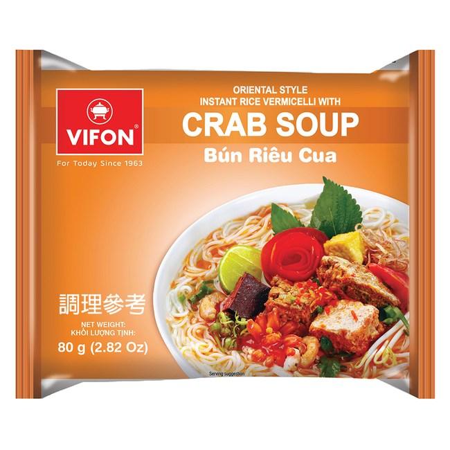 【VIFON味豐】越南 辣龍蝦乾拌麵/蟹湯米細麵 14包/組