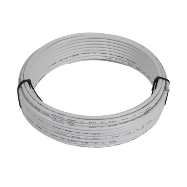 PVC絕緣電線2.0mm10米(白)
