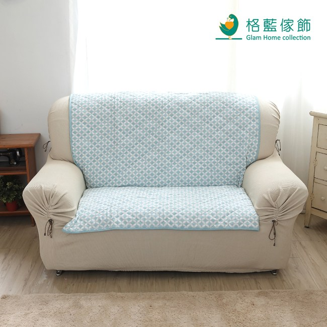 【格藍傢飾】北歐風幾何沙發墊2人-天空藍