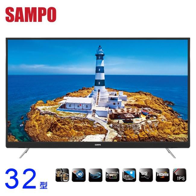 SAMPO聲寶新轟天雷32吋LED液晶顯示器EM-32KT18A~含運