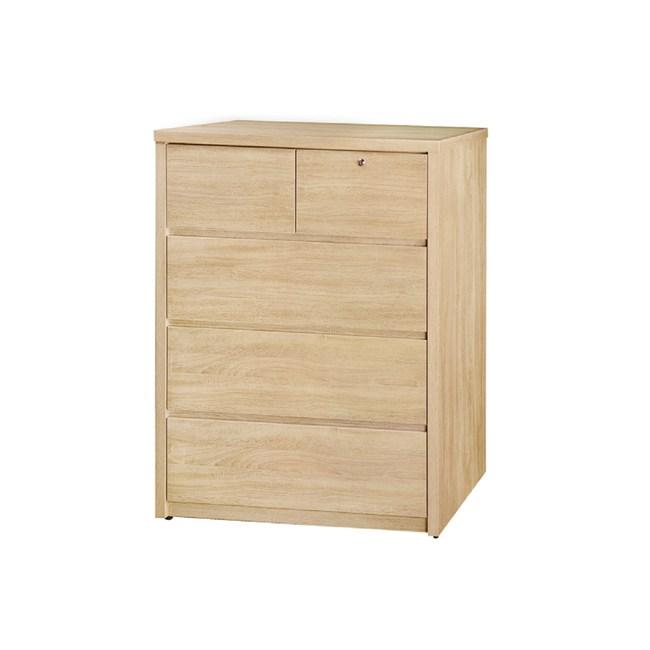 【YFS】喀爾文3尺原切橡木四斗櫃-91x51x120cm