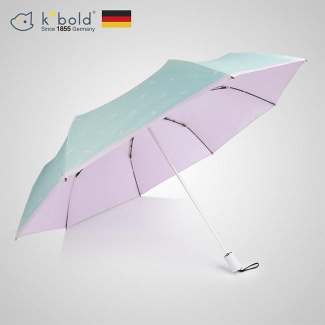 【德國kobold酷波德】抗UV夏威夷風情-超輕巧 遮陽防曬三折傘-粉色
