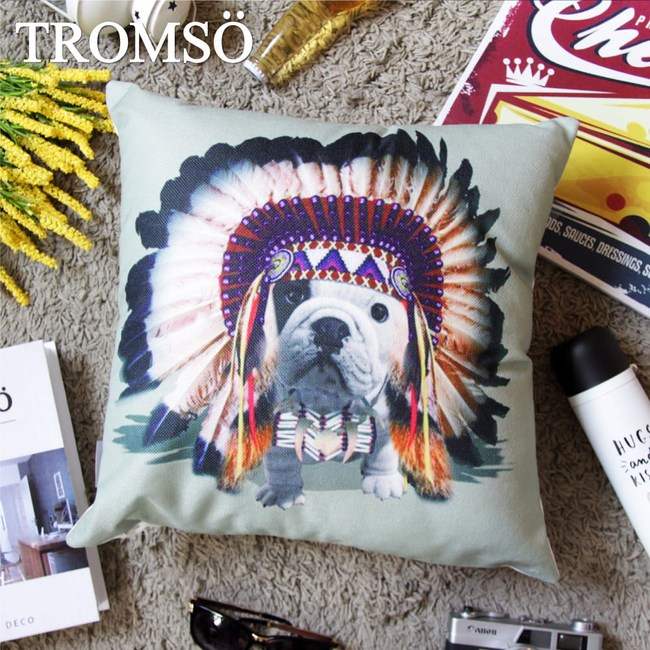 TROMSO品味英倫棉麻抱枕/印地安法鬥