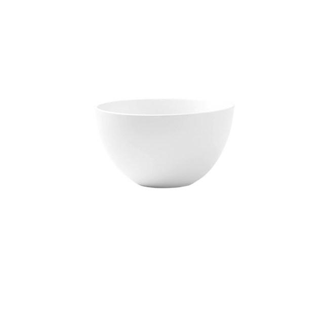 北歐簡約風陶瓷餐具4.5英吋飯碗白色