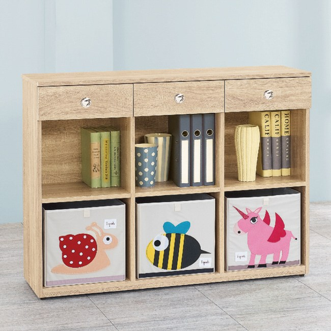 【YFS】里恩耐磨4尺多功能置物櫃兩色可選-119.6x37.5x90橡木