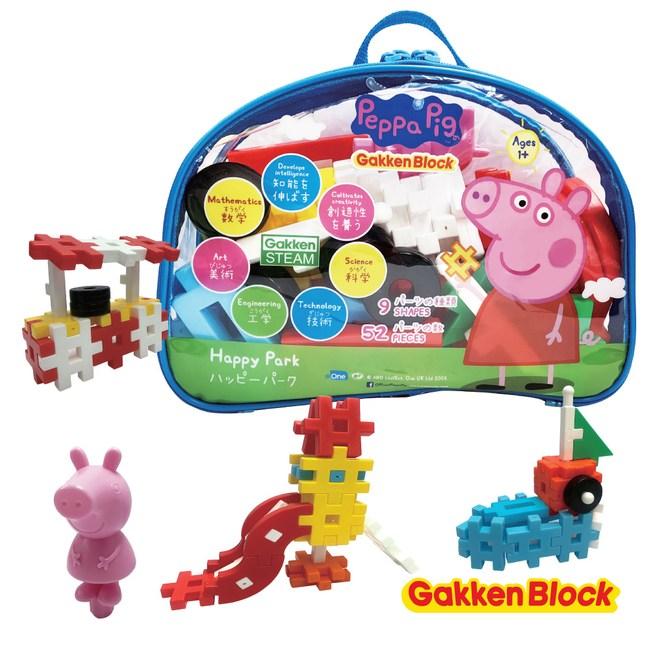 Gakken-日本學研益智積木-快樂公園組合(佩佩豬)(STEAM教育玩具)