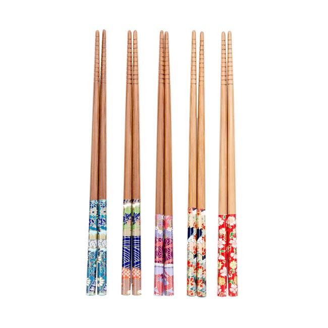 HOLA 花漾和風竹筷五入組