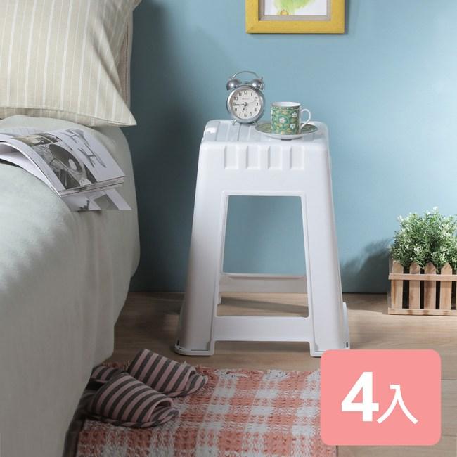 《真心良品x樹德》諾拉高櫃椅4入組白色