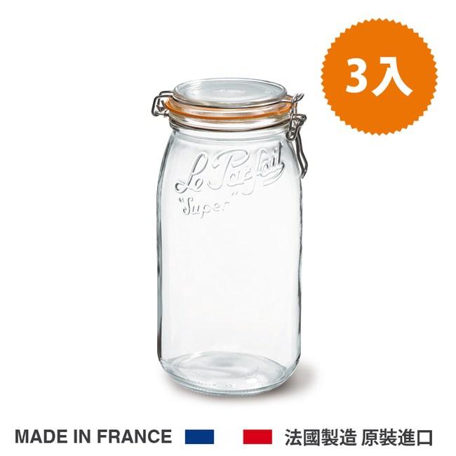法國 Le Parfait 收納密封罐 經典系列3000ml 整箱3入3000ml