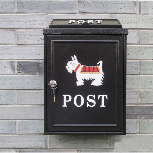 【PUSH!居家生活用品】英倫風個性化信箱 郵箱(小狗款)I51