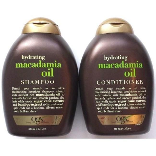美國Ogx澳洲堅果油有機洗髮乳*2+潤髮乳*1