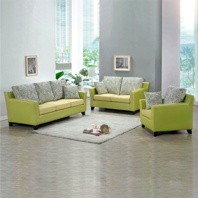 【YFS】柏特萊姆編織綠皮布1+2+3人坐沙發