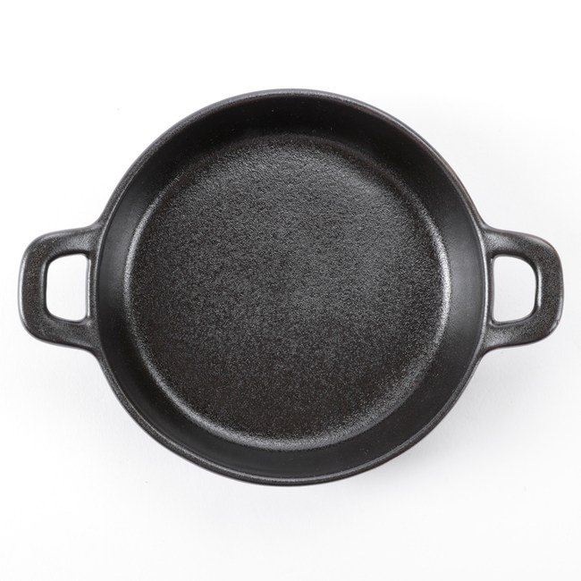 HOLA 陶瓷雙耳圓型盤 15cm 黑