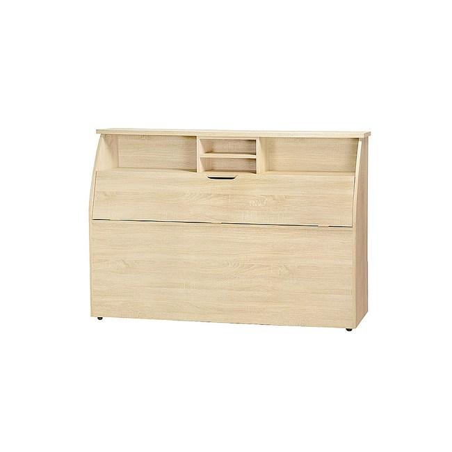 【YFS】凱撒5尺原切橡木床頭箱-154.6x30x112.5cm