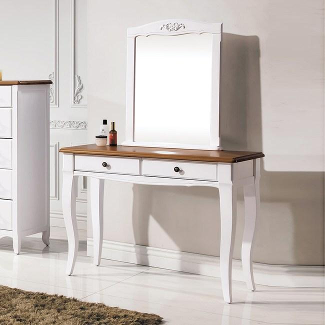 【YFS】瑪莎鄉村3.3尺高腳鏡台含椅-100*41*151.5cm