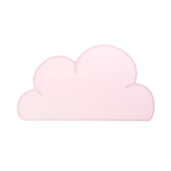 雲朵造型矽膠餐墊 粉