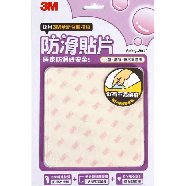 3M防滑貼片透明款6入浴室防滑不磨腳無毒材質好撕不易留痕